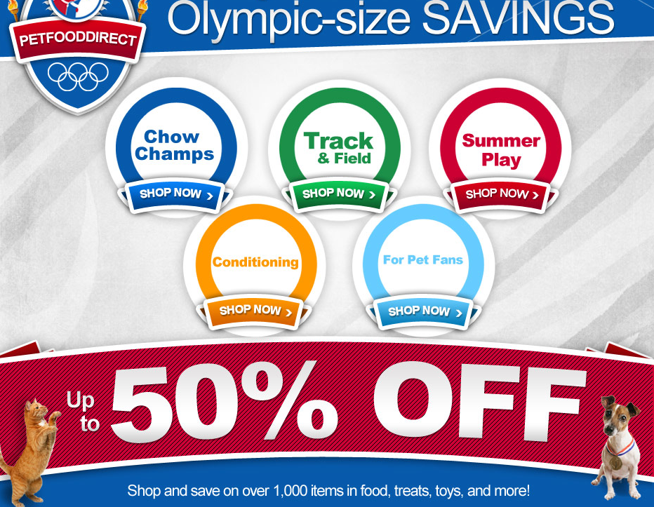 Olympic Size Sale on Pet food, dog treat and toys