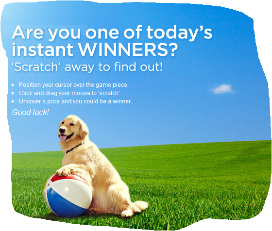 Win a year of Purina dog food plus daily instant prizes