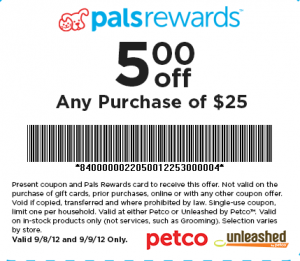picture relating to Petco Coupon Printable titled Countrywide Adoption Weekend Petco Printable Coupon: $5 Off $25