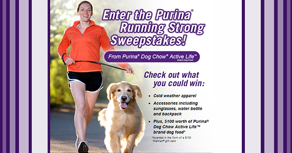 Purina Dog food Running Strong Contest