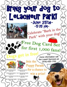 Bark in the Park Lowell Spinners Lelacheur Field 2017